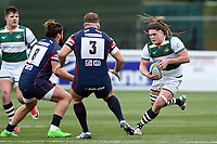Jordy Reid of Ealing Trailfinders goes on the attack. Greene King IPA Championship match, between Ealing Trailfinders and Doncaster Knights on February 9, 2019 at the Trailfinders Sports Ground in London, England. Photo by: Patrick Khachfe / Onside Images