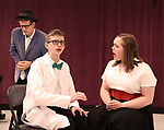 Dominic Wintz, Anthony Frederickson and Maddi O'Connell during the Children's Theatre of Cincinnati presentation for composer Charles Strouse of 'Superman The Musical' at Ripley Grier Studios on June 8, 2018 in New York City.