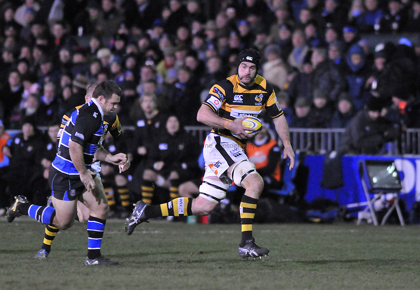 Photo: Tony Oudot/Richard Lane Photography. Bath Rugby v London Wasps. Aviva Premiership. 27/11/2010. .Marty Veale of Wasps.
