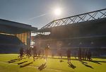 15.02.2019: Rangers training: Rangers training at Ibrox Stadium
