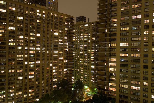 city building side. Apartment Building Windows at Night on Manhattan s Upper West Side  Jeff Spielman Photography