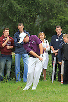 Shane Lowry (IRL) plays his 2nd shot from the rough on the 11th hole during Day 1 Thursday of The Irish Open presented by Discover Ireland at Killarney Golf & Fishing Club on 28th July 2011 (Photo Jenny Matthews/www.golffile.ie)