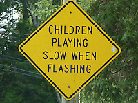 Funny road sign, Maine