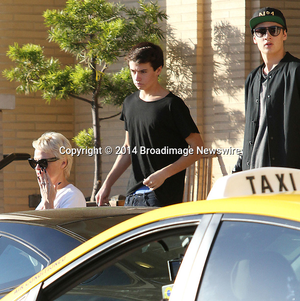 Pictured: Pamela Anderson, Brandon,  Dylan <br /> Mandatory Credit &copy; Patron/Broadimage<br /> Pamela Anderson leaving Barneys New York<br /> <br /> 2/5/14, Beverly Hills, California, United States of America<br /> <br /> Broadimage Newswire<br /> Los Angeles 1+  (310) 301-1027<br /> New York      1+  (646) 827-9134<br /> sales@broadimage.com<br /> http://www.broadimage.com