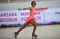 CALI - COLOMBIA - 19 - 09 - 2015: Jessica Gaudy, deportista de Estados Unidos, durante la prueba de Solo Danza Obligatorias Mayores Damas, en el LX Campeonato Mundial de Patinaje Artistico, en el Velodromo Alcides Nieto Patiño de la ciudad de Cali. / Jessica Gaudy, sportwoman United States, during the Compulsory Solo Dance Senior Ladies   test, in the LX World Championships  Figure Skating, at the Alcides Nieto Patiño Velodrome in Cali City. Photo: VizzorImage / Luis Ramirez / Staff.