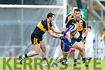 Daithí Casey Dr Crokes in action against Stephen O'Brien (c) Kenmare District in the Senior County Football Championship final at Fitzgerald Stadium on Sunday.