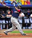 11 March 2010: Boston Red Sox designated hitter David Ortiz at bat during a Spring Training game against the New York Mets at Tradition Field in Port St. Lucie, Florida. The Red Sox defeated the Mets 8-2 in Grapefruit League action. Mandatory Credit: Ed Wolfstein Photo