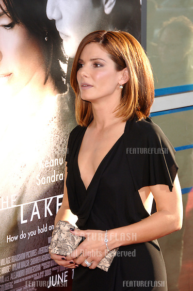 "Actress SANDRA BULLOCK at the world premiere, in Hollywood, of her new movie ""The Lake House""..June 13, 2006  Los Angeles, CA.© 2006 Paul Smith / Featureflash"