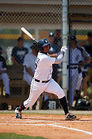 Detroit Tigers Alvaro Gonzalez (27) at bat during an Instructional League game against the Philadelphia Phillies on September 19, 2019 at Tigertown in Lakeland, Florida.  (Mike Janes/Four Seam Images)