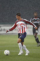 CD Guadalajara forward (9) Omar Bravo during the first game of the CONCACAF Champions' Cup  Semifinal Series between CD Guadalajara of Mexico and D. C. United of the USA at Robert F. Kennedy Memorial Stadium, Washington, D. C., on March 15, 2007. DC United and CD Guadalajara played to a 1-1 tie.