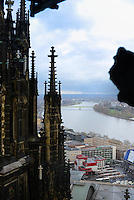 Rhine River From Cologne Cathedral, Germany