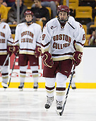 Edwin Shea (BC - 8) - The Boston College Eagles defeated the Harvard University Crimson 6-0 on Monday, February 1, 2010, in the first round of the 2010 Beanpot at the TD Garden in Boston, Massachusetts.