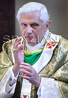 Worldwide meeting of bishops Benedict XVI  in the Basilica of St. Paul Outside in Rome,Oct. 5, 2008