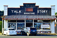 The Talk Story Bookstore in Hanapepe, Kaua'i, is unique in several ways. As noted on its facade, it is the western-most independent bookstore in the USA. It is also now Kaua'i's only bookstore and specializes in new, used and out-of-print books, along with locally-made gifts.