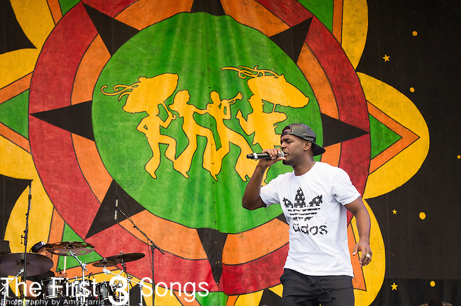 Luke James performs during the 2015 New Orleans Jazz & Heritage Festival in New Orleans, Louisiana.
