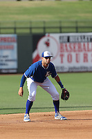 Emmanuel Rivera (9) of the AZL Royals in the field during a game against the AZL Mariners at Surprise Stadium on July 4, 2015 in Surprise, Arizona. Mariners defeated the Royals, 7-4. (Larry Goren/Four Seam Images)