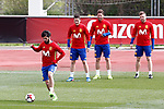 Spain's Isco Alarcon, Ander Herrera, Sergio Ramos and Asier Illarramendi during training session. March 22,2017.(ALTERPHOTOS/Acero)