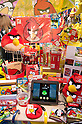 "September 5 2012, Japan - The Angry Birds products exhibit at Gift Show exhibition. The 74th Tokyo International Gift Show brings together 2,400 companies including from China, South Korea, Taiwan and Hong Kong displaying the latest gifts and daily life products, in the biggest international trade show at Tokyo Big Sight. This year the theme of the exhibition is ""Proposing 2012 Future-oriented Relaxation Gifts"". (Photo by Rodrigo Reyes Marin/AFLO).."