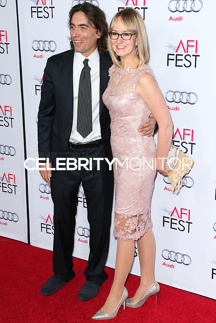 HOLLYWOOD, LOS ANGELES, CA, USA - NOVEMBER 12: Carlo Ponti Jr.,, Andrea Meszaros Ponti arrive at the AFI FEST 2014 - Special Tribute To Sophia Loren held at the Dolby Theatre on November 12, 2014 in Hollywood, Los Angeles, California, United States. (Photo by Xavier Collin/Celebrity Monitor)