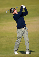 Amateur Pritesh Shah hits an approach during Round 2 of the 2015 Alfred Dunhill Links Championship at the Old Course, St Andrews, in Fife, Scotland on 2/10/15.<br /> Picture: Richard Martin-Roberts | Golffile