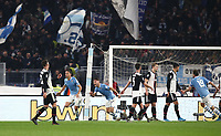 Football, Serie A: S.S. Lazio - Juventus Olympic stadium, Rome, December 7, 2019. <br /> Lazio's Luis Felipe (second from left) celebrates after scoring during the Italian Serie A football match between S.S. Lazio and Juventus at Rome's Olympic stadium, Rome on December 7, 2019.<br /> UPDATE IMAGES PRESS/Isabella Bonotto