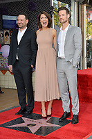 LOS ANGELES, CA. March 25, 2019: Dan Fogelman, Mandy Moore & Shane West at the Hollywood Walk of Fame Star Ceremony honoring actress & singer Mandy Moore.<br /> Pictures: Paul Smith/Featureflash