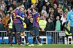 FC Barcelona's team celebrate victory during La Liga match. March 02,2019. (ALTERPHOTOS/Alconada)