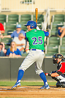 Cameron Gallagher (25) of the Lexington Legends at bat against the Kannapolis Intimidators at CMC-Northeast Stadium on July 29, 2013 in Kannapolis, North Carolina.  The Intimidators defeated the Legends 10-5.  (Brian Westerholt/Four Seam Images)