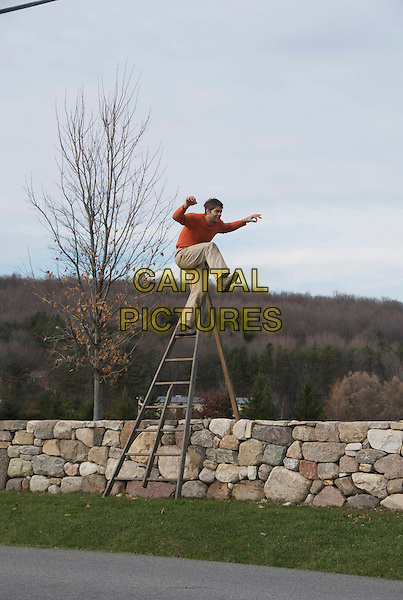 Chris Overing channels &quot;The Karate Kid&quot; while perched over his 1000 foot dry-stone wall in rural Quebec, Canada<br /> in Triumph of the Wall (2013)  <br /> *Filmstill - Editorial Use Only*<br /> CAP/NFS<br /> Image supplied by Capital Pictures