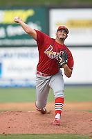 Adam Veres (57) of the Johnson City Cardinals in action at Dan Daniels Park in Danville, VA, Sunday July 27, 2008.