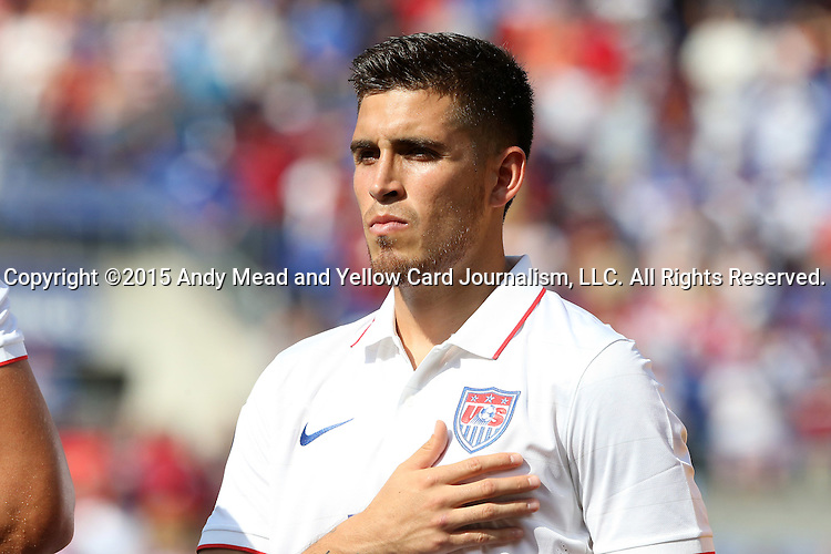 18 July 2015: Ventura Alvarado (USA). The United States Men's National Team played the Cuba Men's National Team at M&T Bank Stadium in Baltimore, Maryland in a 2015 CONCACAF Gold Cup quarterfinal match. The U.S. won the game 6-0.