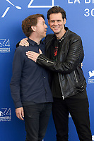 VENICE, ITALY - SEPTEMBER 5: Chris Smith and Jim Carrey attend the photocall for Jim &amp; Andy: The Great Beyond -The Story Of Jim Carrey &amp; Andy Kaufman With A Very Special, Contractually Obligated Mention Of Tony Clifton during the 74th Venice Film Festival on September 5, 2017 in Venice, Italy.<br /> CAP/BEL<br /> &copy;BEL/Capital Pictures
