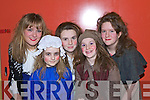 REHEARSAL: Jennifer Stimpfig, Aiveen O'Brien, Maureen Maher, Rebecca Lyons and Doireann O'Carroll at the dress rehearsal of the Kerry school of music production of Sweeney Todd at Siamsa Tire on Tuesday evening.