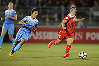 Boyds, MD -Saturday August 26, 2017:Yuki Nagasato, Whitney Church during a regular season National Women's Soccer League (NWSL) match between the Washington Spirit and the Chicago Red Stars at Maureen Hendricks Field, Maryland SoccerPlex.