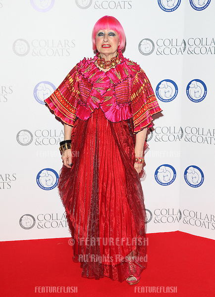 Zandra Rhodes arriving for the Collars And Coats Ball, at Battersea Evolution, London. 08/11/2012 Picture by: Alexandra Glen / Featureflash