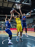 18.12.2019, EWE Arena, Oldenburg, GER, EuroCup 7Days, EWE Baskets Oldenburg vs Buducnost VOLI Podgorica, im Bild<br /> Robin AMAIZE (EWE Baskets Oldenburg #21 ) Suad SEHOVIC (Buducnost VOLI Podgorica #4 ) Aleksa ILIC (Buducnost VOLI Podgorica #13 )<br /> Foto © nordphoto / Rojahn