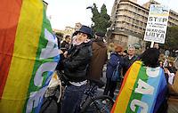 """Roma, 29 Marzo 2011.Manifestazione contro l'attacco militarte in Libia, organizzata dalla """"rete dei comunisti"""""""