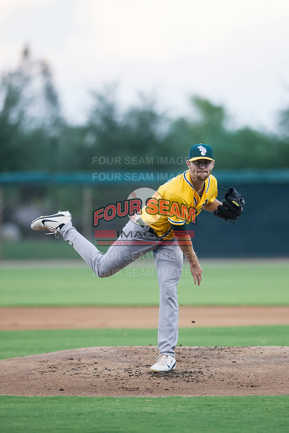 AZL Athletics starting pitcher James Naile (47) follows through on a pitch during a rehab start against the AZL White Sox on July 20, 2017 at Camelback Ranch in Glendale, Arizona. AZL Athletics defeated the AZL White Sox 5-2. (Zachary Lucy/Four Seam Images)