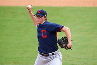 Pitcher Zack Hess (33) of Liberty Christian Academy in Forest, Virginia playing for the Cleveland Indians scout team during the East Coast Pro Showcase on July 29, 2015 at George M. Steinbrenner Field in Tampa, Florida.  (Mike Janes/Four Seam Images)