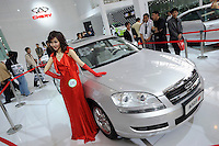 Chery Cross Eastar 6 at the Auto China 2008 in Beijing. The car show has attracted all the world's major auto markers. Vehicle production and sales both surged more than 20 percent to a record 8.8 million units in China last year. Analysts forecast that both China's auto output and sales will continue to expand at double-digit rates in 2008 to 10 million as the economy grows rapidly and the government tries to encourage people to spend money..24 Apr 2008
