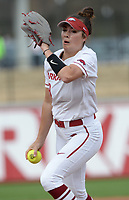 NWA Democrat-Gazette/ANDY SHUPE<br /> Arkansas starter Autumn Storms delivers to the plate against Kentucky Friday, March 29, 2019, during the first inning at Bogle Park in Fayetteville. Visit nwadg.com/photos to see more photographs from the game.