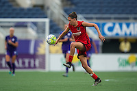 Orlando, FL - Sunday June 26, 2016: Emily Menges  during a regular season National Women's Soccer League (NWSL) match between the Orlando Pride and the Portland Thorns FC at Camping World Stadium.