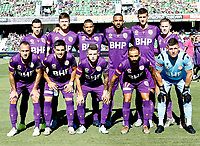 11th January 2020; HBF Park, Perth, Western Australia, Australia; A League Football, Perth Glory versus Adelaide United; Perth Glory pose for a team photograph - Editorial Use