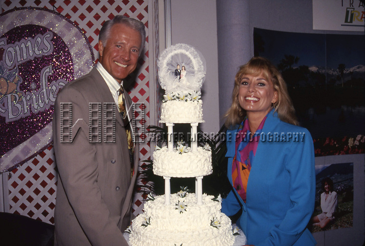 Lyle Waggoner and wife Sharon Kennedy attend the N.A.T.P.E. convention on January, 15, 1994 in Miami, Florida.