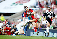 Photo: Richard Lane/Richard Lane Photography. England v Wales. RBS Six Nations. 09/03/2014. Wales' George North attacks.