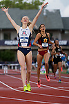 EUGENE, OR - JUNE 10: Sage Watson of the University of Arizona races to a first place finish in the 400 meter hurdles during the Division I Women's Outdoor Track & Field Championship held at Hayward Field on June 10, 2017 in Eugene, Oregon. Watson won the event with a 54.52 time. (Photo by Jamie Schwaberow/NCAA Photos via Getty Images)