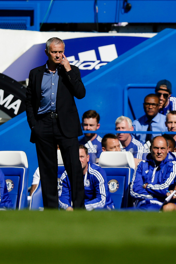 Chelsea Manager Jose Mourinho<br /> <br /> Photographer Craig Mercer/CameraSport<br /> <br /> Football - Barclays Premiership - Chelsea v Arsenal - Saturday 19th September 2015 - Stamford Bridge - London<br /> <br /> &copy; CameraSport - 43 Linden Ave. Countesthorpe. Leicester. England. LE8 5PG - Tel: +44 (0) 116 277 4147 - admin@camerasport.com - www.camerasport.com