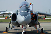 The Kawasaki T4 jet trainer of the Japan Air Self-Defence Force at the Komaki Airshow