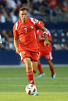 Blas Perez forward Panama in action...Canada and Panama tied 1-1 in Gold Cup play at LIVESTRONG Sporting Park, Kansas City, Kansas.