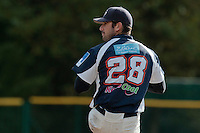 24 October 2010: Pierrick Lemestre of Savigny pitches against Rouen during Rouen 5-1 win over Savigny, during game 4 of the French championship finals, in Rouen, France.